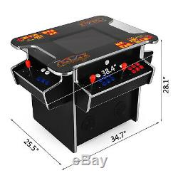 3 Sided Cocktail Arcade Machine With 1162 Classic Games 4 Players 19 Inch Screen