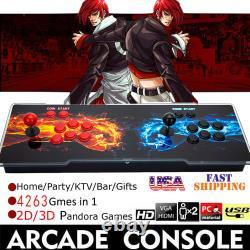 3D Pandora Box 4263 In 1 Retro Video Games Button Double Stick Arcade Console US