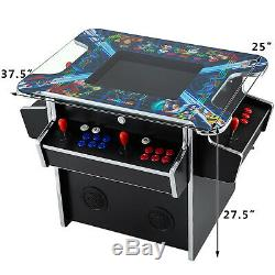 4 Player Cocktail Arcade Machine 2475 Classic Games 3 Sided With 2 Stools 194lbs