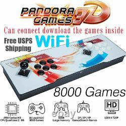 8000S Games in 1 Game Arcade Console Retro Pandora Box 20s Double Sticks 3D Wifi