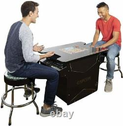 ARCADE1UP CAPCOM Street Fighter II Head to Head 12-IN-1 Gaming Table Black