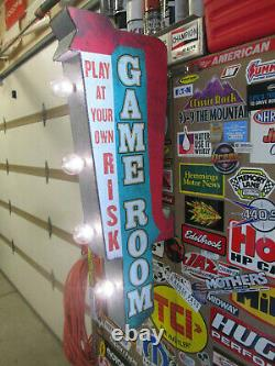 Arcade Game Metal Cool Marquee Double Sidedsign Vintage Look Video Pinball Coin