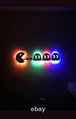 Arcade Pac Man lighted LED sign Game room, Retro, Man cave, Bedroom, Night light