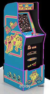 Arcade1UP MS Pacman Retro Video Game Cabinet Riser 4 games In 1 Arcade 1UP