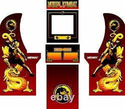 Arcade1up Arcade Cabinet Graphic Decal Complete Kits Mortal Kombat