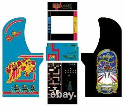 Arcade1up Arcade Cabinet Graphic Decal Complete Kits Ms Pac-Man/Galaga