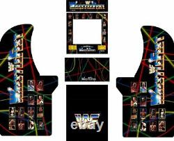 Arcade1up Arcade Cabinet Graphic Decal Complete Kits WrestleFest
