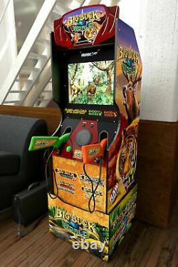 Arcade1up Big Buck Shooting Game Riser Light Up Marquee Retro Shooter Arcade Cab