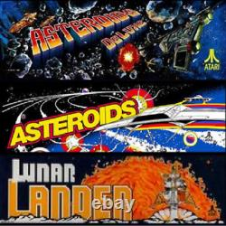 Asteroids Deluxe Multigame Free Play & High Score Save Kit Plays 3 arcade game