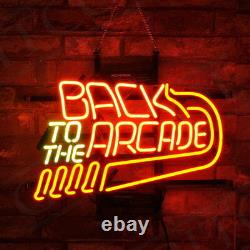 Back to the ArcadeMan Cave Game Room Wall Beer Bar Neon Sign Light Shop Club