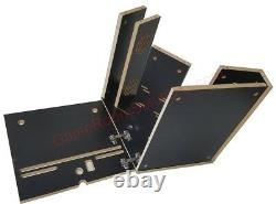 Bartop Arcade Cabinet Kit Black, Easy Assembly hardware, Plex, Marquee Holder
