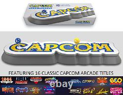 Capcom Home Arcade Stick HDMI Console 16 Games Built-in From 80s 90s Strider AVP