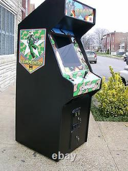 Commando Arcade Video Game Machine, Lots Of New Part With LCD Monitor-sharp