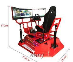 Commercial VR 3 Screen Car Racing Virtual Reality Simulator Realistic Arcade