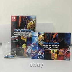 Darius Cozmic Collection Arcade Nintendo Switch Post Card + Darius Pin NEW