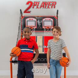 Deco Home Indoor Basketball Arcade Game, 1-4 Player, LED Scoreboard with 8 Games