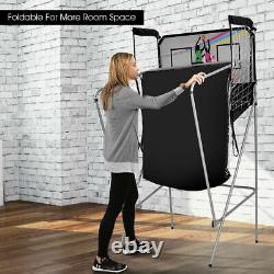 Indoor Basketball Arcade Game Double Electronic Hoops shot 2 Player With 4 Balls
