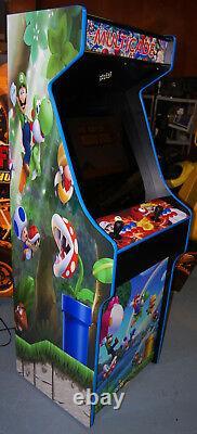 Mario Themed Multicade Arcade Cabinet Lots of Games! Simpsons XMen TNMT 3,000
