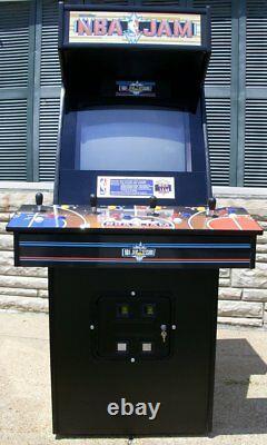 NBA Jam Arcade Video Game- Lot of new parts, new 32 LCD Monitor- Sharp