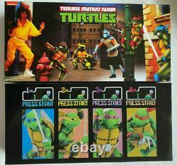 NECA 2016 SDCC TMNT Arcade Game 4-Figure Set Teenage Mutant Ninja Turtles Sealed