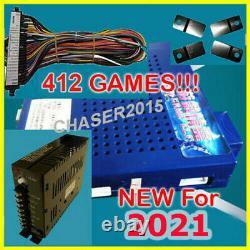 NEW 412 in 1 Game Elf JAMMA Arcade Board VGA VERTICAL w WIRE & PWR US SELLER