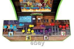 NEW Teenage Mutant Ninja Turtles Home Arcade Cabinet 2 Games in 1 + Riser