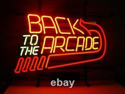 New Back to the Arcade Neon Light Sign 20x16 Decor Lamp Bar Artwork Game Room