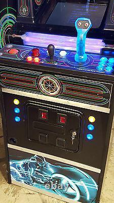 Original TRON Video Arcade Game Converted to Lit SuperCade! Extra Lighting, NEW