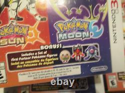 POKEMON Sun & Moon Dual Pack Nintendo 3DS Pokémon BONUS SET FIRST PARTNER FIGURE