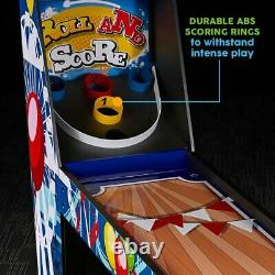 Roll Ball Game Kid Rollerball Arcade Game w Scorer + LED Lights + Arcade Sounds