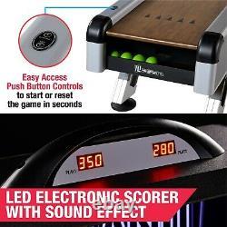 SkeeBall Game 10ft Indoor Arcade Game w Scorer + LED Lights + Arcade Sounds