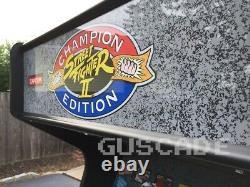 Street Fighter 2 Champion Edition Arcade Machine Full Size Multi Game II Guscade