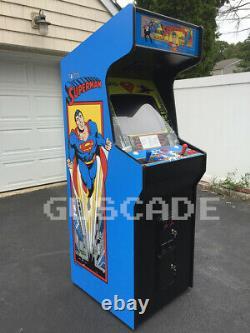 Superman Arcade Machine NEW Full Size Plays many Classics Super Man Guscade