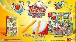 Taiko no Tatsujin Drum'n' Fun! Bundle Box Nintendo Switch Game + Drums Set