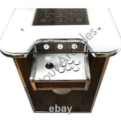 Walnut Arcade Cocktail Table 412 Retro Games 2 Player Gaming Cabinet UK Made