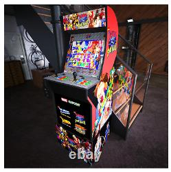 X-Men vs Street Fighter Arcade1UP Gaming Cabinet Machine with Matching Riser New